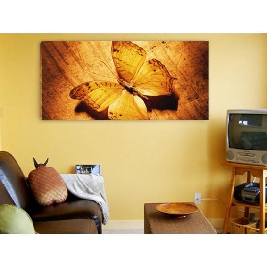 "Картина пано ""Жълта пеперуда"", 110 * 50 см"