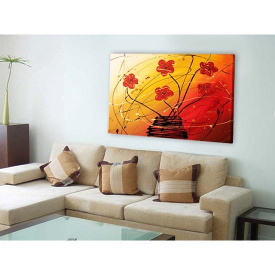 """Картина пано """"Танцът на цветята"""", 100 * 70 см"""