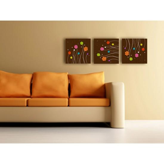 "Картина пано ""Цветя"", 3 бр. 40 * 40 см"