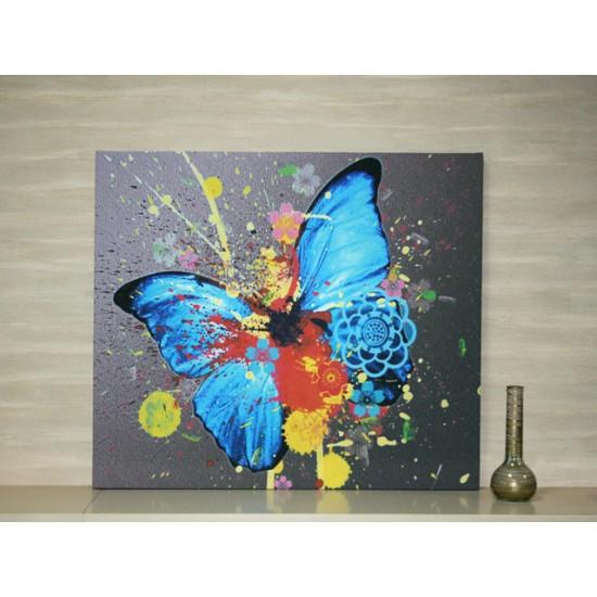 "Картина пано ""Синя пеперуда"", 80 * 70 см"