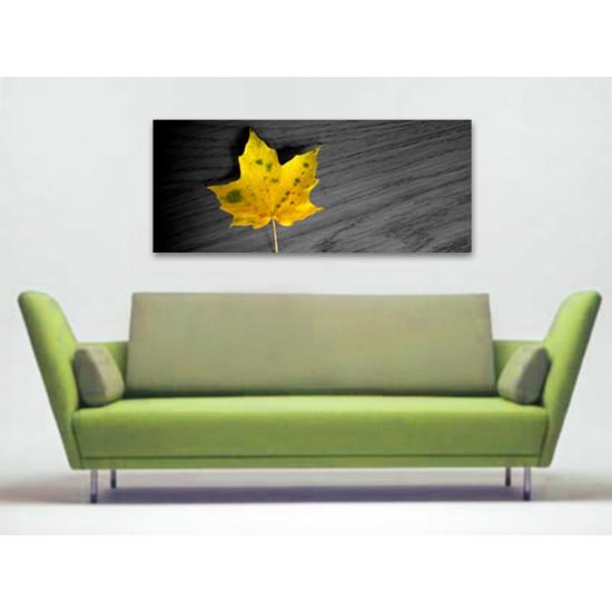 "Картина пано ""Кленов лист"", жълт, 130 * 55 см"