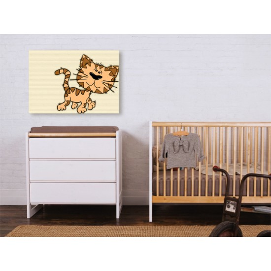 "Детска картина пано ""Коте"", 75 * 55 см"