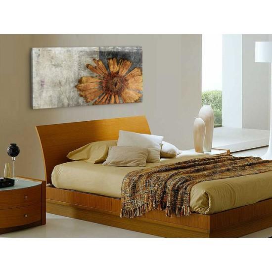 """Картина пано """"Есенно цвете"""", жълт, 140 * 60 см"""