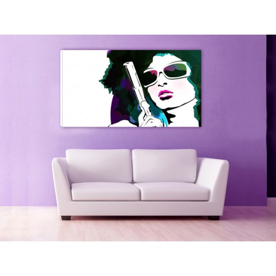 """Картина пано """"Дамата с пистолета"""", 110 * 60 см"""