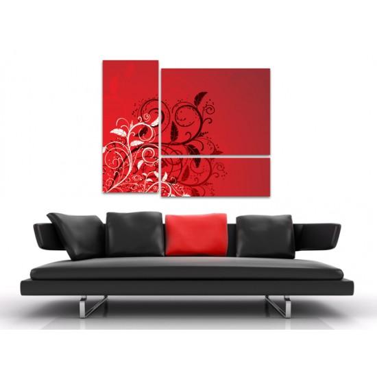 """Картина пано """"Феерия в червено"""", 110 * 90 см"""
