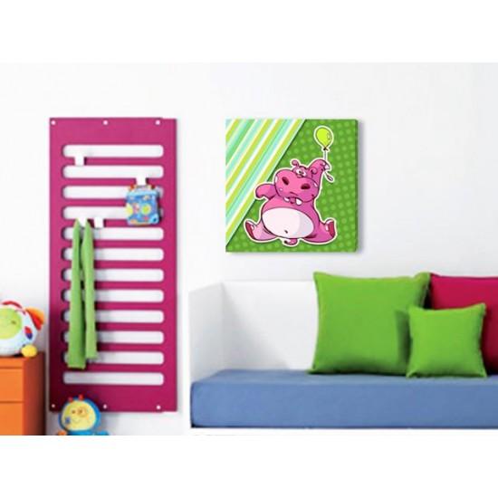 """Детска картина пано """"Хипопотамче"""", 60 * 50 см"""