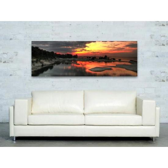 "Картина пано ""Залез"", 150 * 50 см"