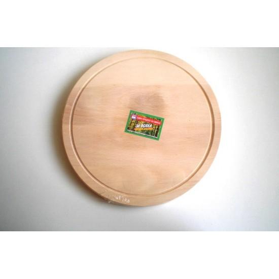Дъска за рязане кръгла с канал 24 см