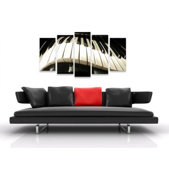 """Картина пано """"Пиано. Бар?"""", 140 * 70 см"""
