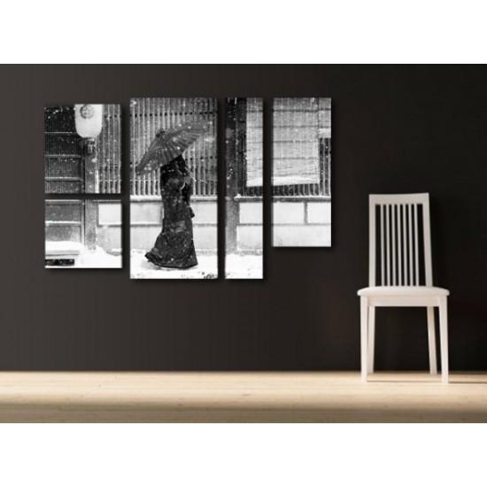 """Картина пано """"Дама в снега"""", 110 * 70 см"""