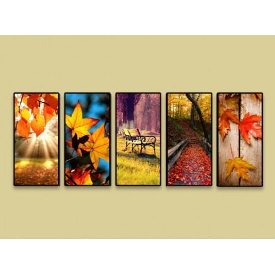 """Картина пано """"Есен"""", 5 бр. 25 * 55 см"""