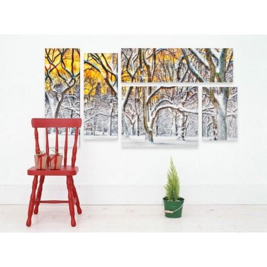 """Картина пано """"Зимна гора"""", 140 * 70 см"""