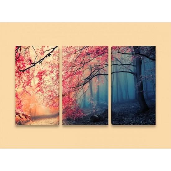 """Картина пано """"Есен в гората"""", 120 * 70 см"""