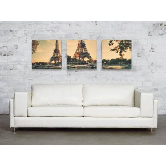 """Картина пано """"Париж"""", 3 бр. 45 * 45 см"""