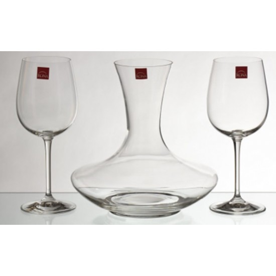 Комплект Гарафа и две чаши за червено вино, Рона Словакия