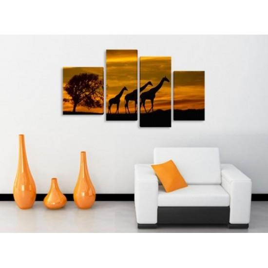 """Картина пано """"Жирафи"""", 120*70 см"""