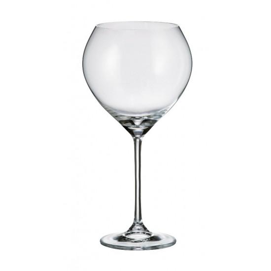 Комплект от 6 чаши за червено вино Сесилия, 640 мл, Crystalite Bohemia