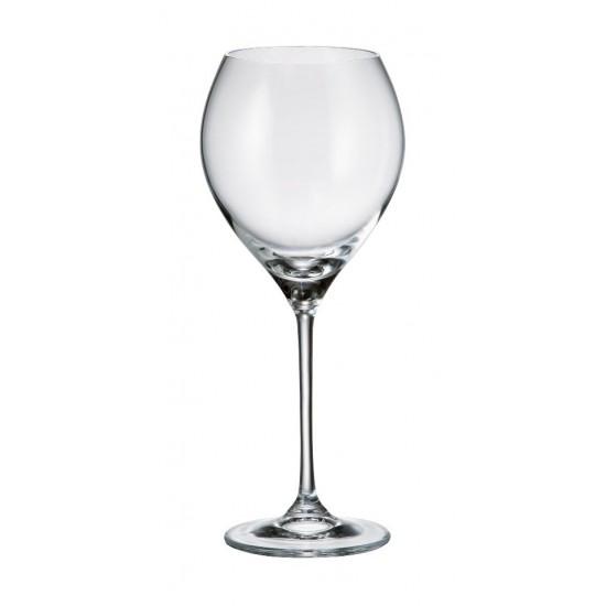 Комплект от 6 чаши за вино Сесилия, 390 мл, Crystalite Bohemia