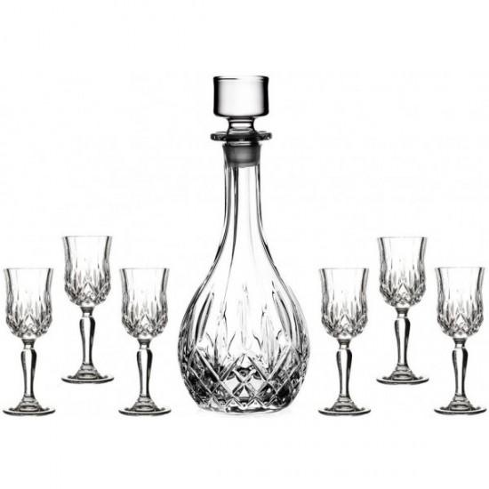 Комплект гарафа и 6 чаши за аперитив Opera, RCR Cristalleria Italiana