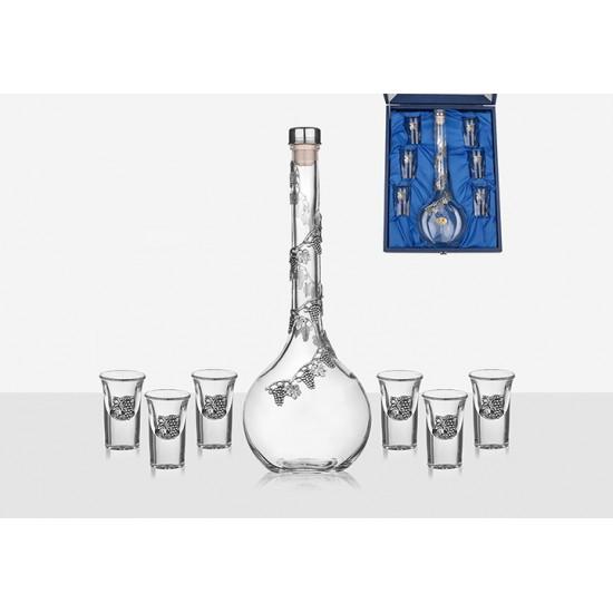 Бутилка за ракия с 6 чаши Лоза, Freitas & Dores Португалия