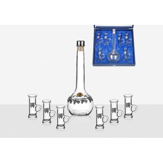 Гарафа за ракия + 6 чаши с дръжка, Freitas & Dores Португалия