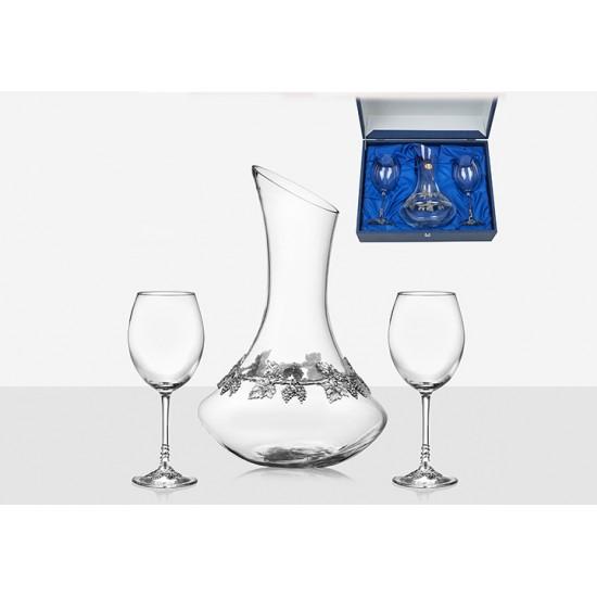 Декантер + две чаши за вино, Freitas & Dores Португалия
