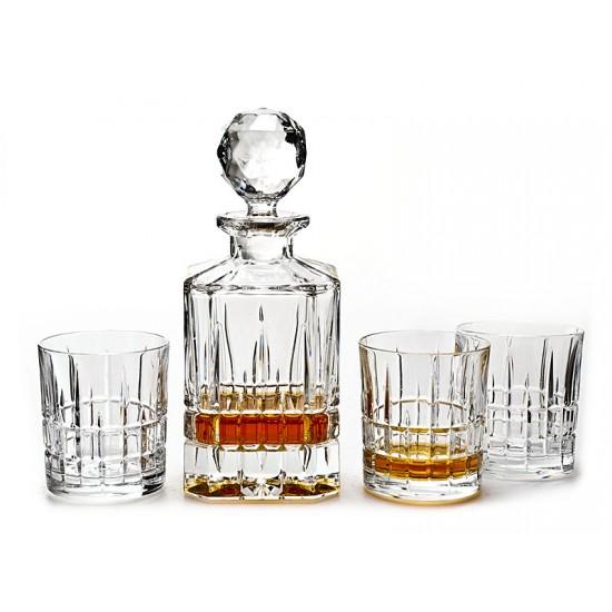 Кристален сервиз за уиски Dover 7 части, Crystal Bohemia