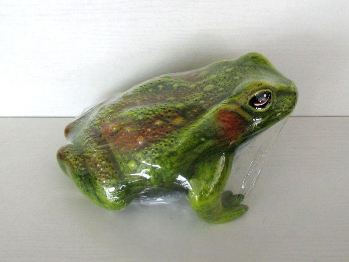 Керамична жаба голяма