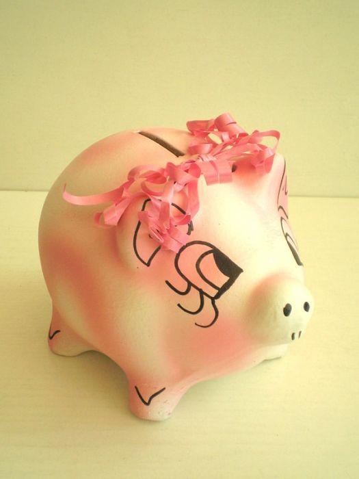 Керамична касичка прасе, розово