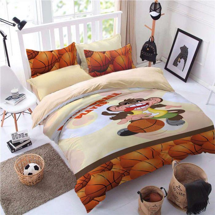 Детско спално бельо Маймунка