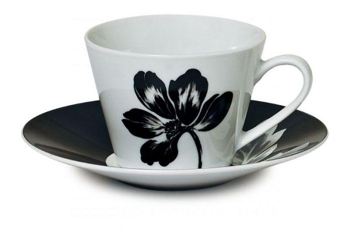 Сервиз за кафе бяло и черно