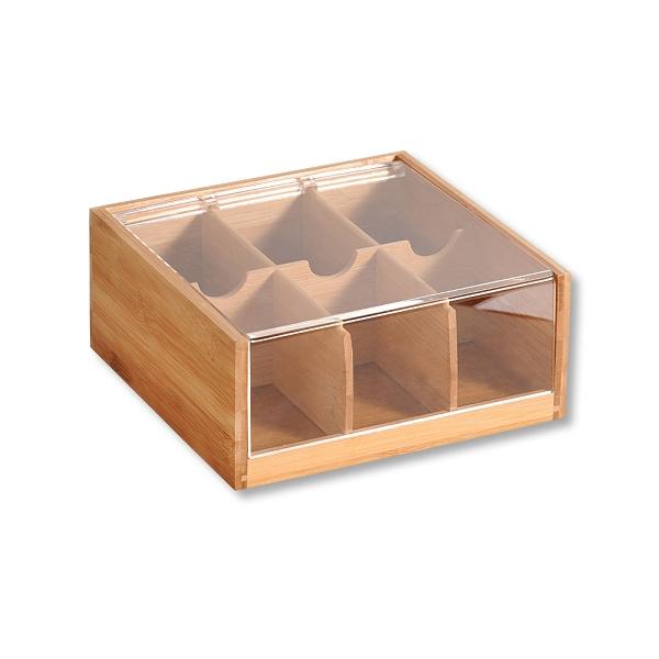 Кутия за чай от бамбук KESPER