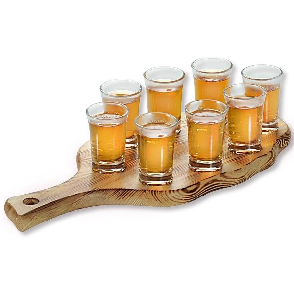 Комплект за сервиране на аперитив Лист с 8 чашки