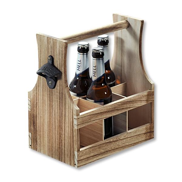 Дървен холдер за бирени бтилки KESPER