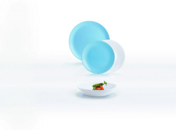Сервиз за хранене Luminarc Diwali White&Blue, 18 части