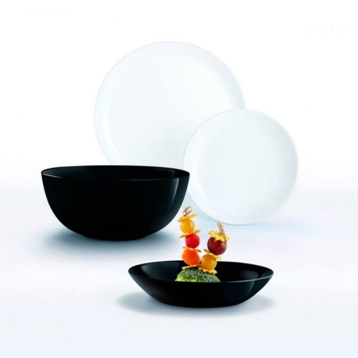 Сервиз за хранене черно и бяло Diwali Luminarc