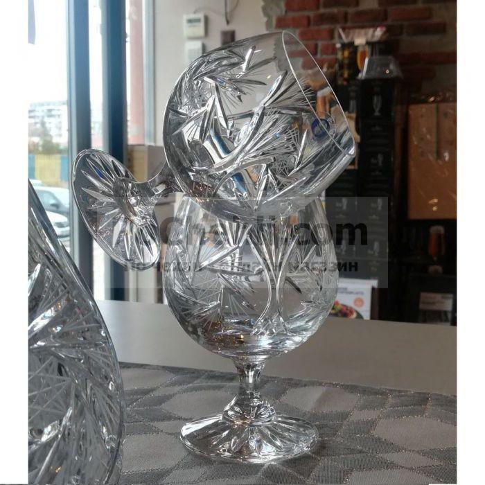 кристални чаши за коняк 250 мл