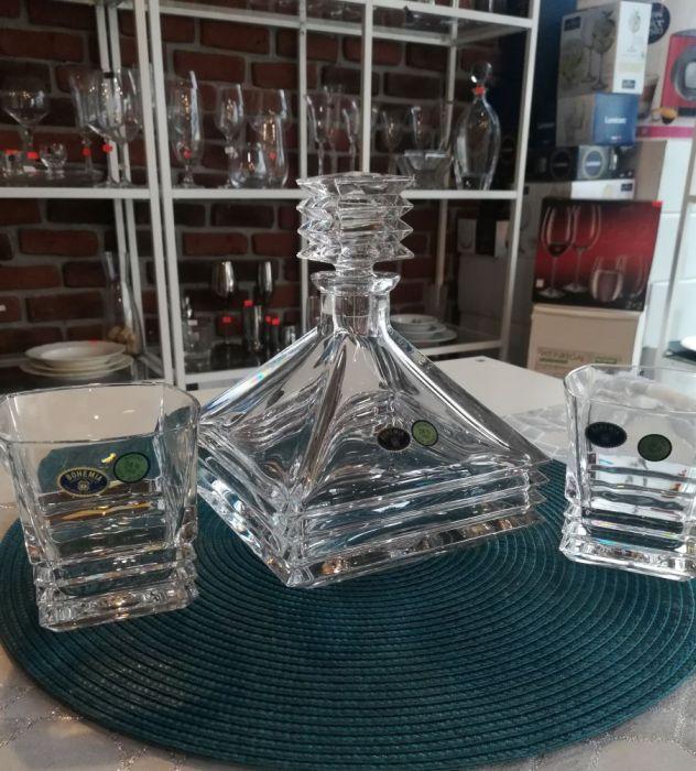 кристален комплект за уиски Мария Бохемия