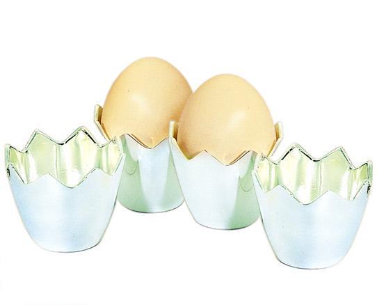 Комплект от 4 бр. посребрени поставки за яйца