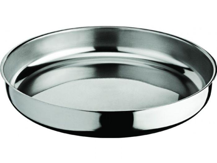 Тава от благородна неръждаема стомана, кръгла, диаметър 28 см