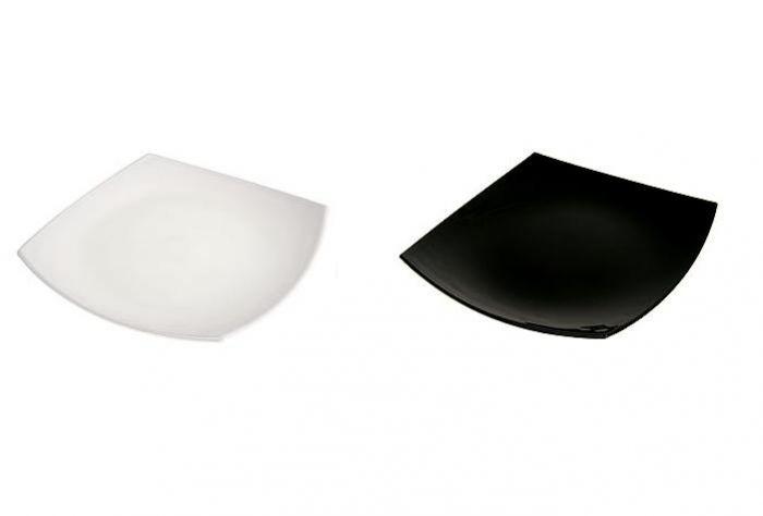 Чиния за десерт Luminarc Quadrato, 19 см, черно или бяло