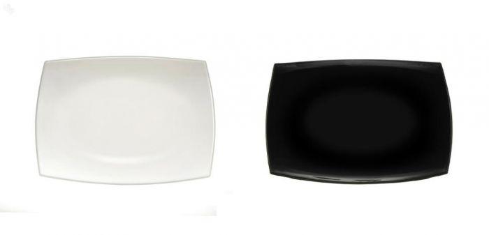 Правоъгълно плато за сервиране Luminarc Quadrato, 35 см, черно или бяло
