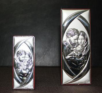 Посребрено пано - икона