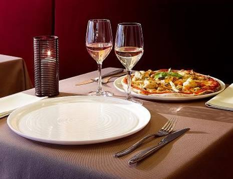 Чиния за пица, Luminarc Zenix, 32 см., слонова кост, оребрена