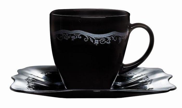 Сервиз за чай Luminarc Authentic Silver Black, 12 части