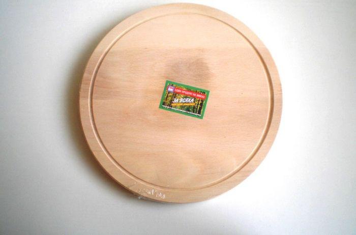 Дъска за рязане кръгла с канал 28 см