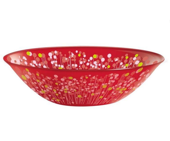 Комплект от 6 бр. купички Luminarc Flowerfield Red, 16 см