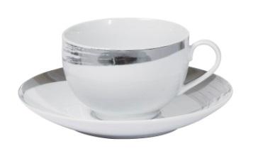 Порцеланов сервиз за кафе и чай Платинум