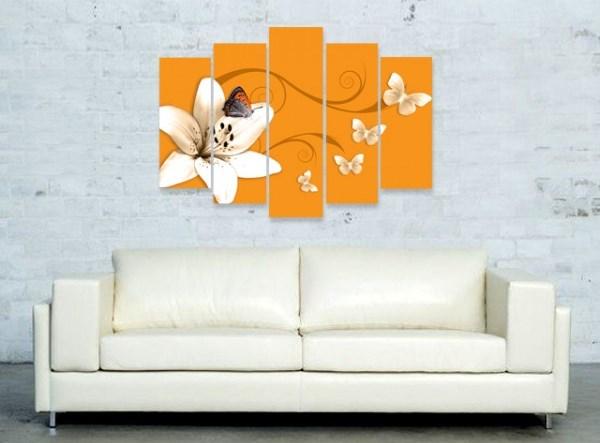 Пано за стена Лилия в оранжево