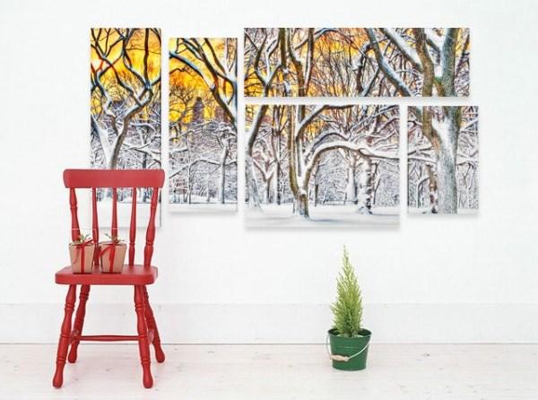 Пано за стена Зима в гората